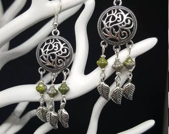 Elfish Leaf - beads - Elvish - lorien - nature - Celtic earrings