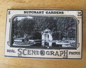 Butchart Gardens Scene o graph photos (set of 8) / Gowan Sutton Garden photos