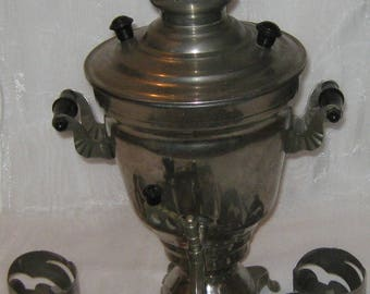 Vintage Soviet Russian electric samovar with tea brewing pot