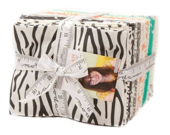 Savannah Fat Quarter Bundle from Moda Fabrics, 28 Fat Quarters, Complete Collection, Zebra Stripes, Children's Safari