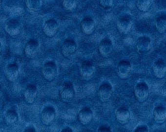 Electric Blue Minky Cuddle Dimple Minky - Shannon Fabrics - Dimple Minky