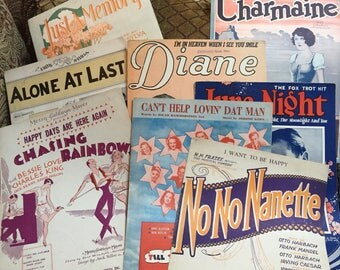 Sheet Music from the 1920's