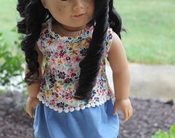 """18"""" American girl doll Floral Tank Top"""