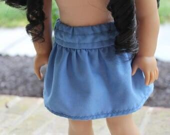 """18"""" American Girl Doll blue skirt"""