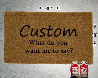 Custom Coir Doormat - 18x30 - Welcome Mat - House Warming - Mud Room - Gift - Custom - Design your own - Persoalized