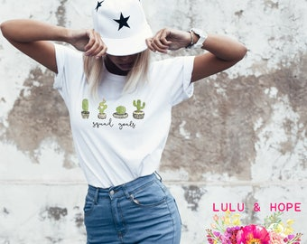 Cactus T-Shirt, Squad Goals, Succulent T-Shirt, Plant Lady Shirt, Crazy Plant Lady, Succulents, Boho Women's Tee, Plant Mom, Hipster Shirt