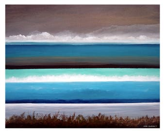 INVERSIONS Giclee Print of Original Linear Seascape Painting /////Wall Art Home Decor