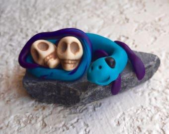 Skully the Dragon Figurine OOAK