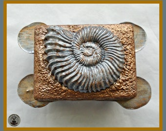 Chocolate Fossil Gift/Ammonite Shell/Fossil Shell/Spiral/Paleontologist/Geology/Geologist/Fossil Hunter/Collector/Dad/Brother/Grandfather