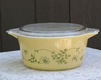 Vintage Pyrex Shenandoah 1.5L Casserole Dish with Lid