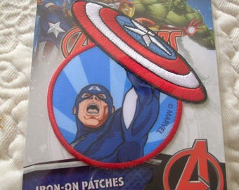 CAPTAIN AMERICA MARVEL thermo transfer embroidered patch badge