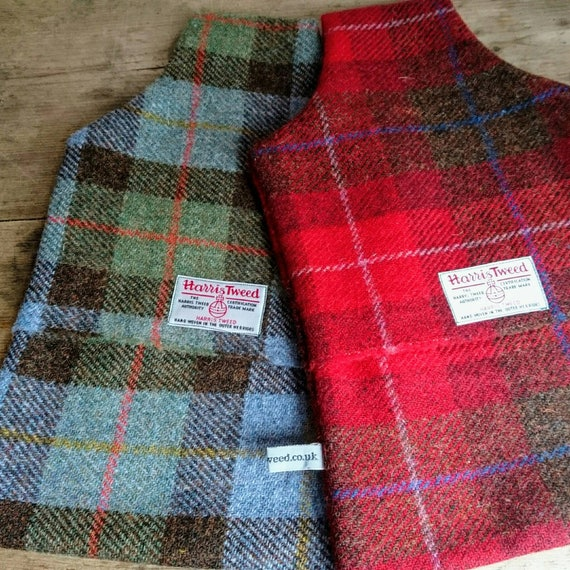 Hand Crafted Harris Tweed hot water bottle cover