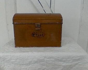vintage Tin storage box