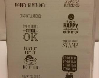 """Stampin' Up! """"Designer Tee"""" Stamp Set"""