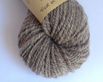 Sweet Oatmeal - Blue Faced Leicester hand spun wool skein