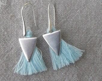 """Stylized """"Tassel sky"""" earrings"""