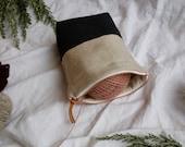 CHARCOAL (small) - Knitting project bag / Zipper project bag / Zipper pouch / Project bag / Project bag for knitting