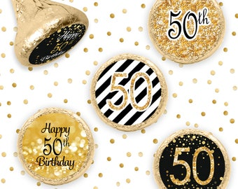 50th Happy Birthday Party Favors