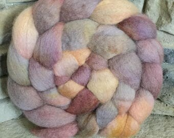 BFL Combed Top Spinning Fiber - Hand Painted - approx. 4 ounces each - Feltable - CONCH