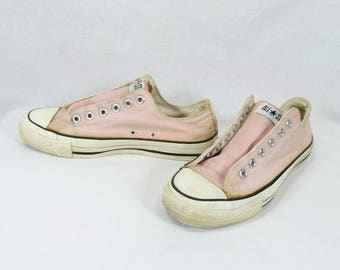 Vtg Converse Made in USA Sz UK7.5/US 9.5/Eu 41 All Star Chuck Taylor Low Pink