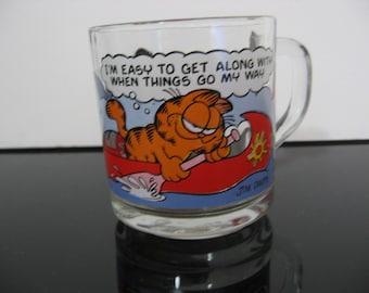 Vintage 1978 - McDonald's Garfield Glass Mug