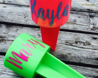 SALE Beach Sand Spiker Drink Holder Beach Spike Cup Monogram Personalized Custom Gifts for Her Family Vacation