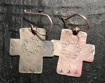 Cross Earrings in sterling silver