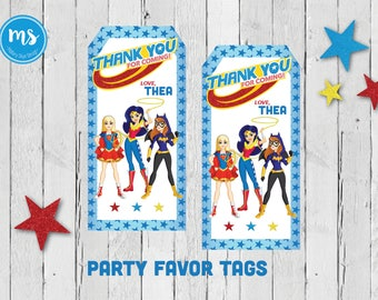 DC Superhero Girls Party Favor Tags {PRINTABLE}