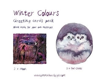 Winter Colours : Greeting Cards Pack of 5 cards