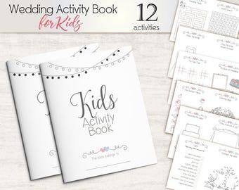 Kids Activity Pack Wedding Children Activities Book Favor