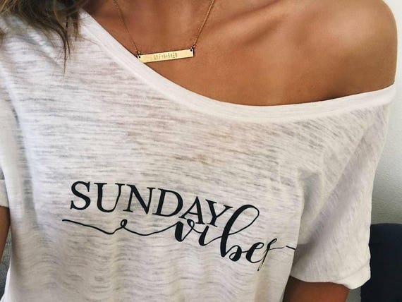 SUNDAY VIBES Tee or Tank, Sunday Tee, Sunday Shirt, Weekend Vibes, Sunday, Funday Sunday, Sunday Tee, Sundays, Sunday Tshirt, Sunday Funday