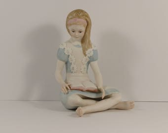 "Vintage Cybis Porcelain Art Studio ""Alice in Wonderland."" Figurine."