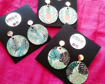 Three pairs of earrings by map sale