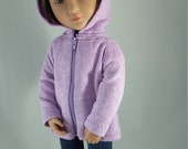 """16"""" doll clothes - Mauve French Terry Hoodie to fit A Girl for all Time"""