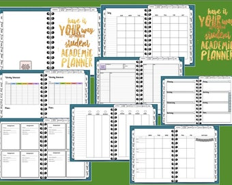 Have It Your Way 18-month Student Academic Digital Planner, Tabbed, Teal, for GoodNotes, Metamoji Note, OneNote