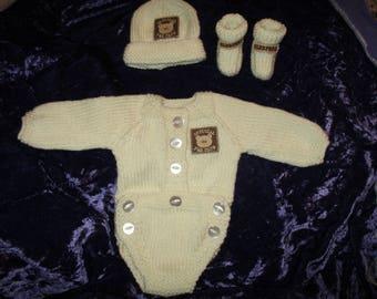 Baby reborn boy's body suit
