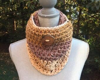 Peacan Fudge Crochet Cowl