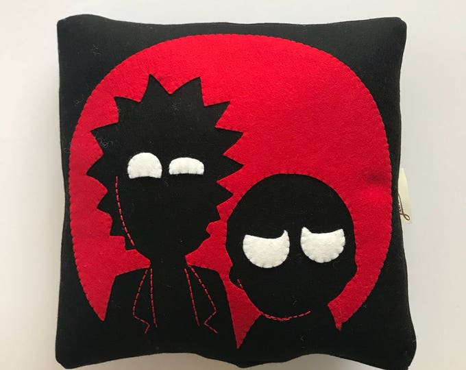 Rick and Morty/Luka The Pau cushion/Hand Embroidered cushion.