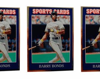 5 - 1992 Sports Cards #33 Barry Bonds Baseball Card Lot Pittsburgh Pirates