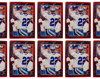 10 - 1992 Legends #6 Emmitt Smith Football Card Lot Dallas Cowboys
