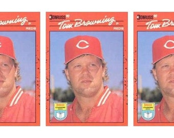 5 - 1990 Donruss Learning Series #54 Tom Browning Baseball Card Lot Reds