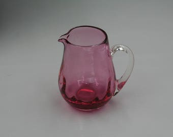 Glass Pitcher - Cranberry