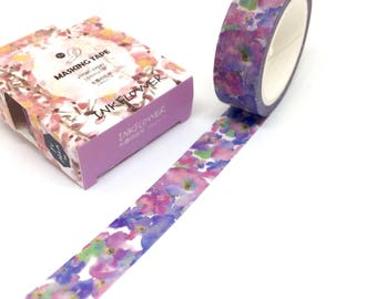 Watercolour Flowers Washi Tape