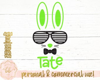 Bunny svg, Easter svg, Hipster bunny svg, boy Easter svg, Easter bunny svg, DXF, commercial use