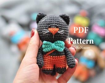 Amigurumi Cat Pattern -Christmas Crochet Pattern - Cat Crochet Pattern - Crochet Pattern Cat - Crochet Cat Pattern - Amigurumi Cat Patterns