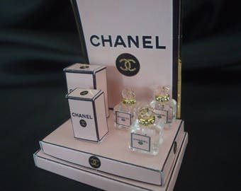 """Perfume shop display Chanel """"Pink"""" 1/12th scale"""