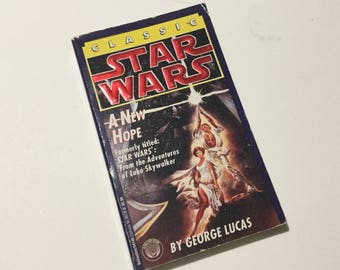 VIntage Star Wars Book by George Lucas 1976 A New Hope 1977 - The Adventures of Luke Skywalker Original 1st edition