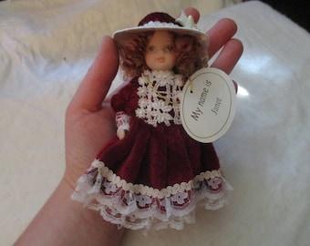 Leonardo Collection Small Porcelain Doll - Janet