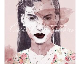 Elodia Prieto Print with white corners