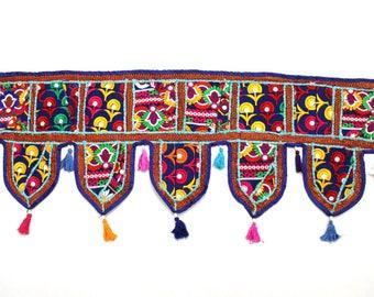 Handmade Window Door Valance Home Decor Decorative Embroidered Patchwork Toran Pelmet Topper Drapery Top Hanging Tent Decoration Art K327
